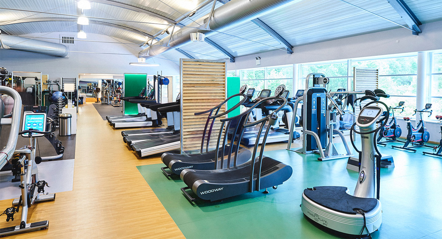 The cardio vascular machines in the gym at David Lloyd Brussels.