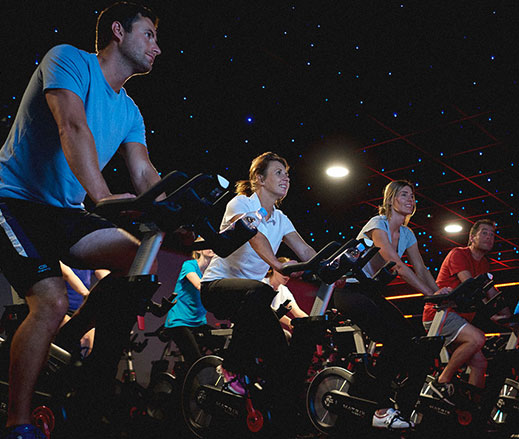 Studio group cycling